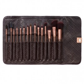 BH Cosmetics otu komplekts Rose Gold Brush Set (15 gab.)