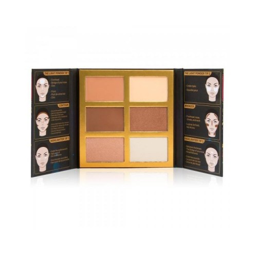 J.Cat Beauty Sejas palete #2 Medium/Dark (6 krāsas)
