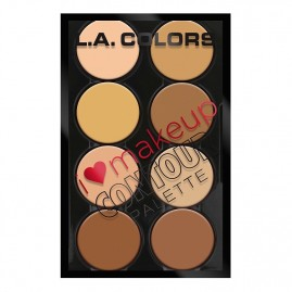 L.A. Colors Konturēšanas palete I Heart Make Up Light to Medium