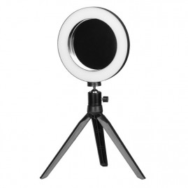 Lampa Ring Light Mini 6' 6W LED + Statīvs