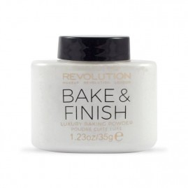 Revolution Beauty Birstošais Pūderis Bake and Finish White
