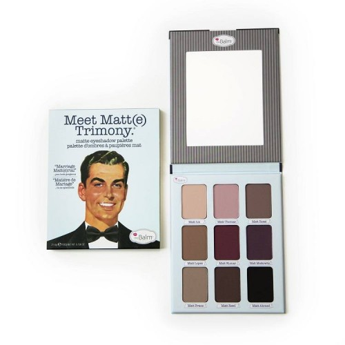the Balm Cosmetics Acu Ēnu Palete Meet Matt(e) Trimony.® (9 krāsas)